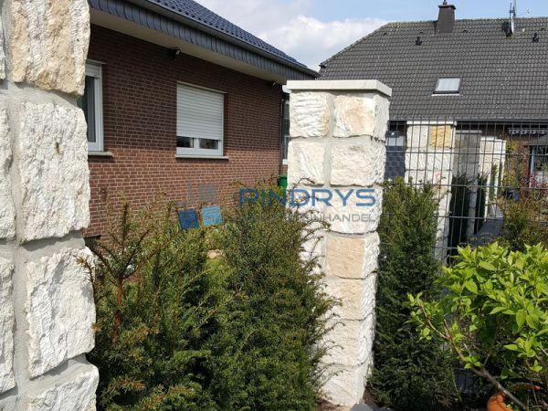 Sandstein Mauersteine 20x20x40 cm gelber Sandsteinmauer aus Polen, Trockenmauer