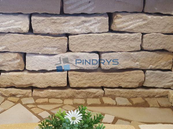 Sandstein Mauersteine 10x20x40 cm gelber Sandsteinmauer aus Polen