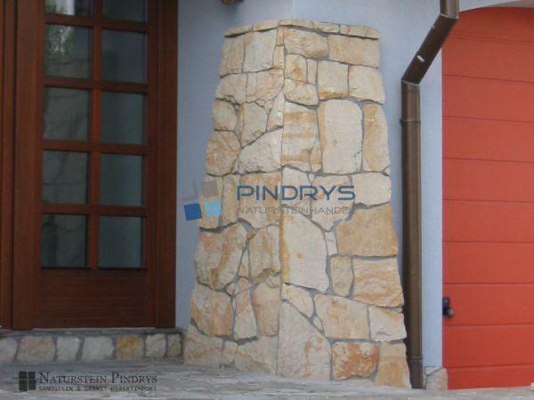 Sandstein Verblender, Bruchsteinverkleidung, Mauerverblender, Steinverblender, Riemchen
